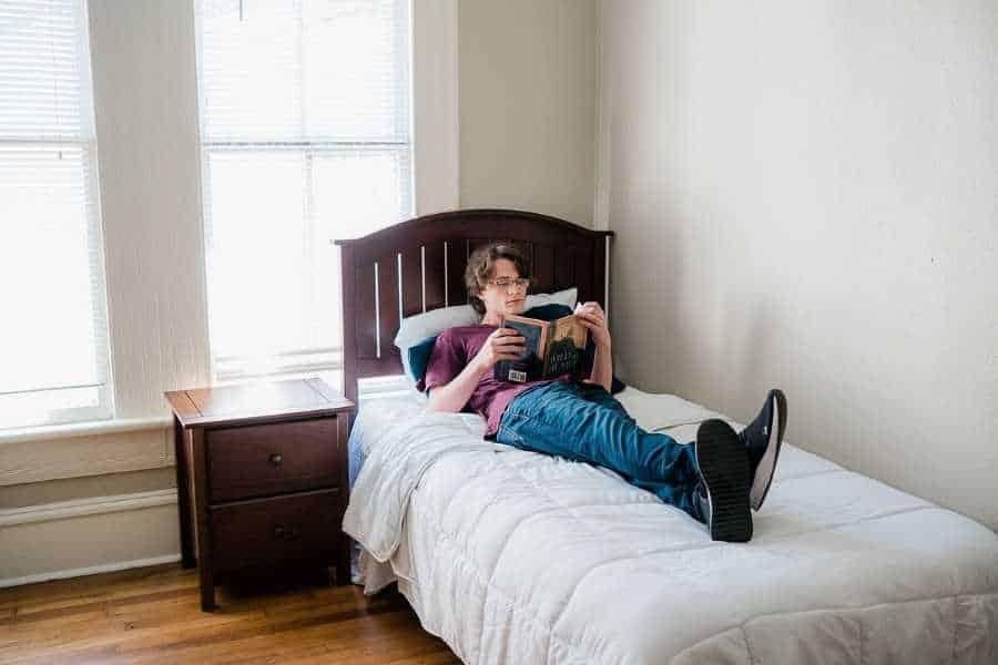 sober living bedroom