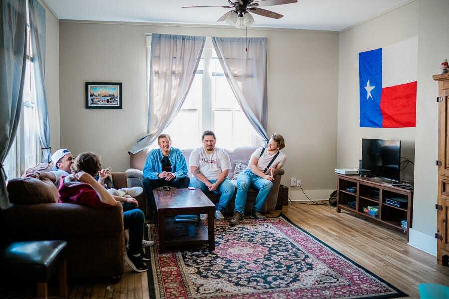 Sober Living Living Room